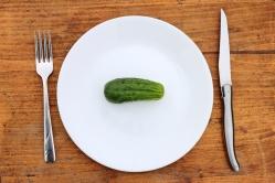 Crash dieting concept